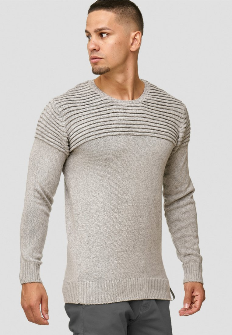 INDICODE JEANS - Pullover - light grey