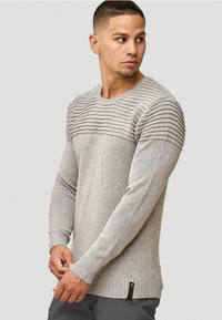 INDICODE JEANS - Pullover - light grey - 3
