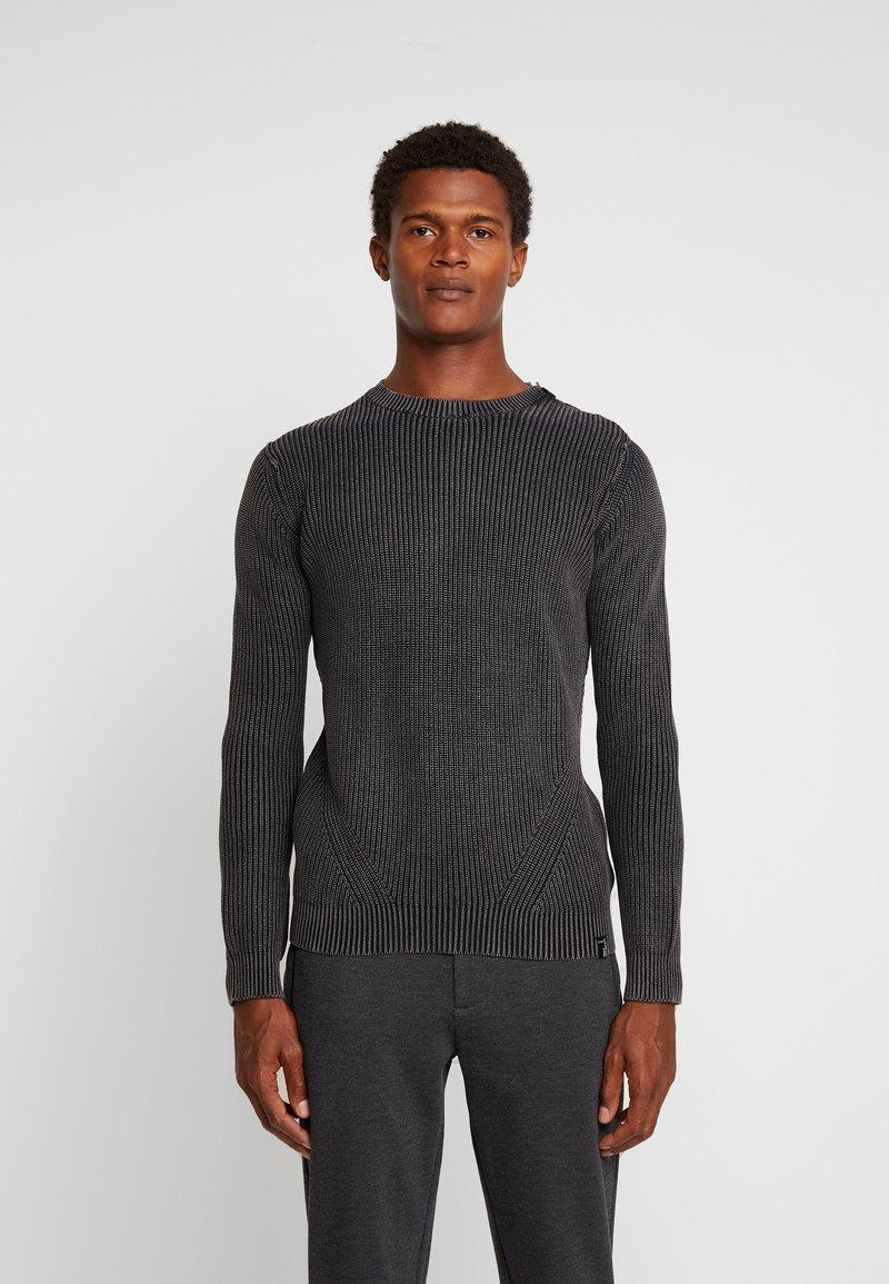 INDICODE JEANS - ECKFORD - Stickad tröja - black