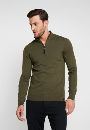 ANACONA - Stickad tröja - army