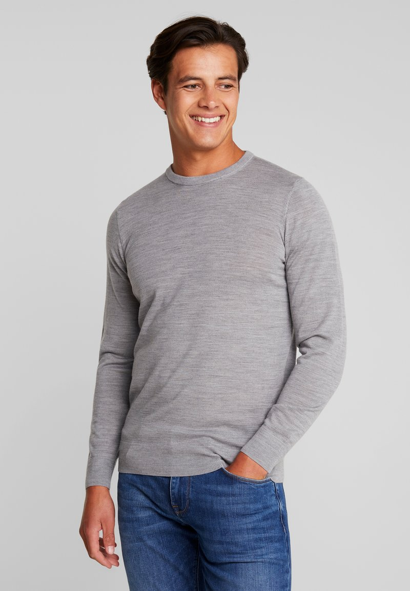 INDICODE JEANS - CASTLEREAGH MERINO WOOL - Strickpullover - grey mix