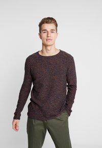 INDICODE JEANS - KRISTIAN TWISTED - Jumper - navy - 0