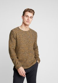 INDICODE JEANS - KRISTIAN TWISTED - Jumper - charcoal mix - 0