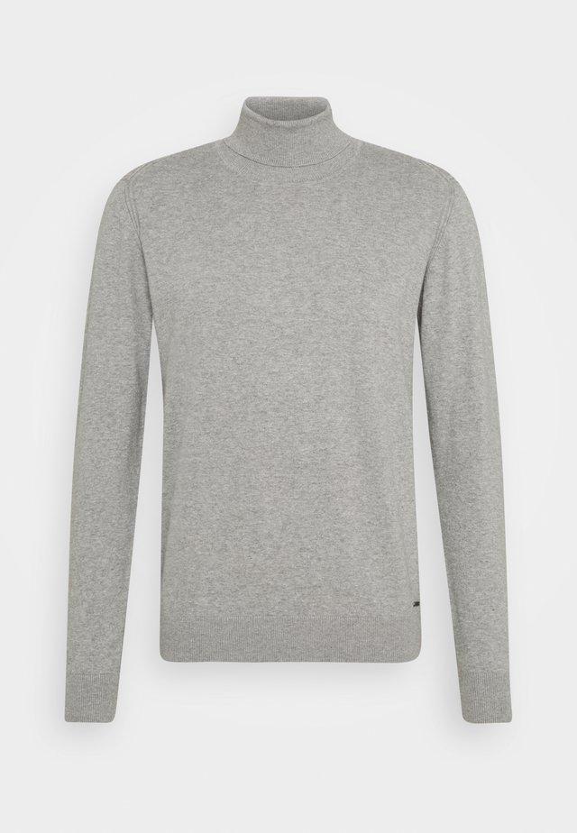 BURNS - Strikkegenser - mottled light grey