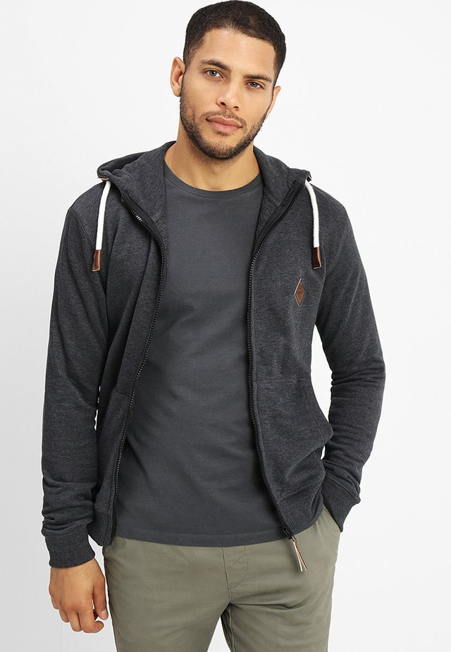 QUINBY - Zip-up hoodie - charcoal mix