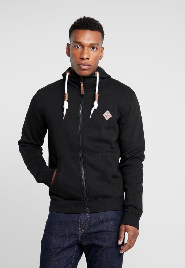 QUINBY - Zip-up hoodie - black