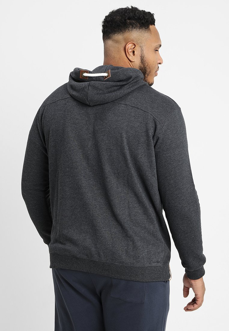 Indicode Jeans Quinby Plus - Veste En Sweat Zippée Charcoal Mix