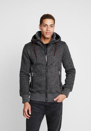 CAXTON - Zip-up hoodie - charcoal mix