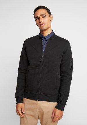 LANYARD - veste en sweat zippée - black