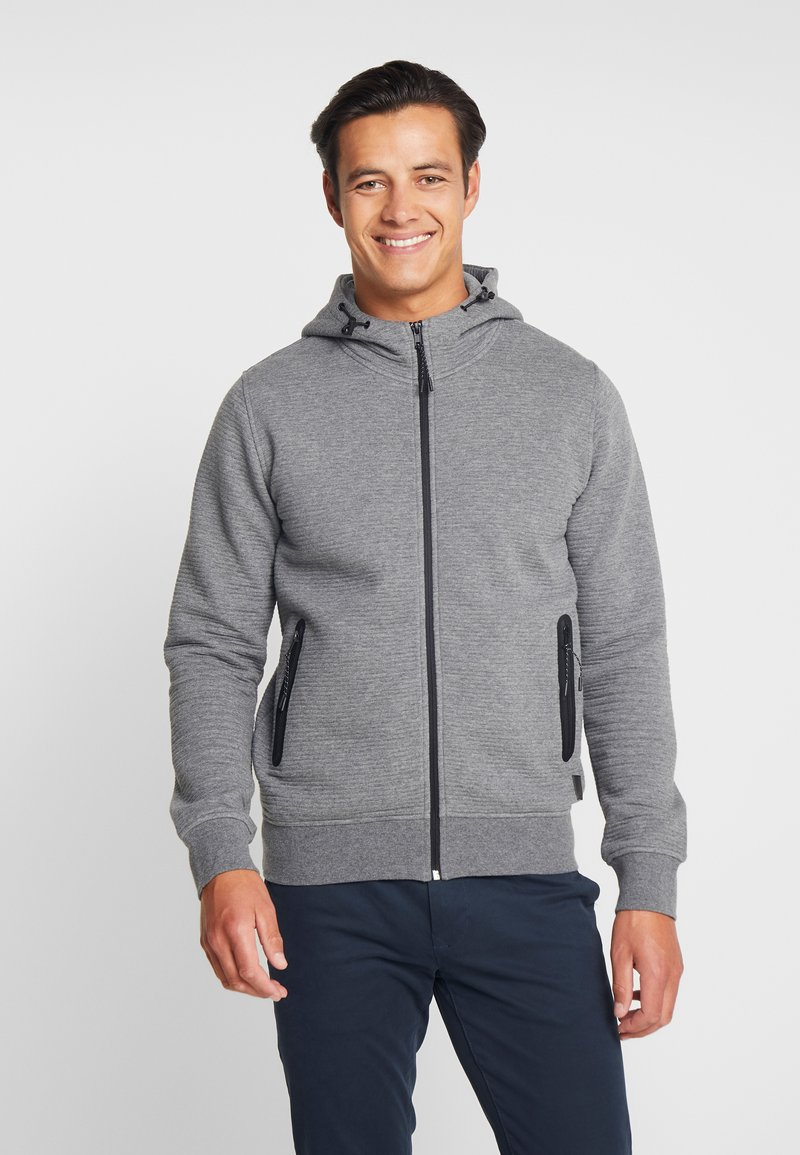 INDICODE JEANS - DOMINION - Mikina na zip - grey mix