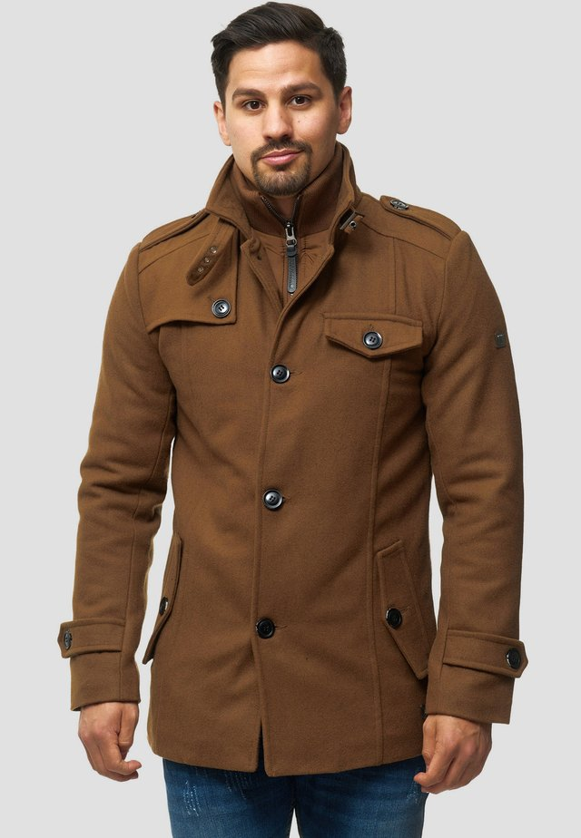 BRANDAN - Short coat - camel