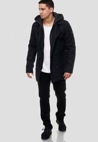INDICODE JEANS - Halflange jas - black - 1