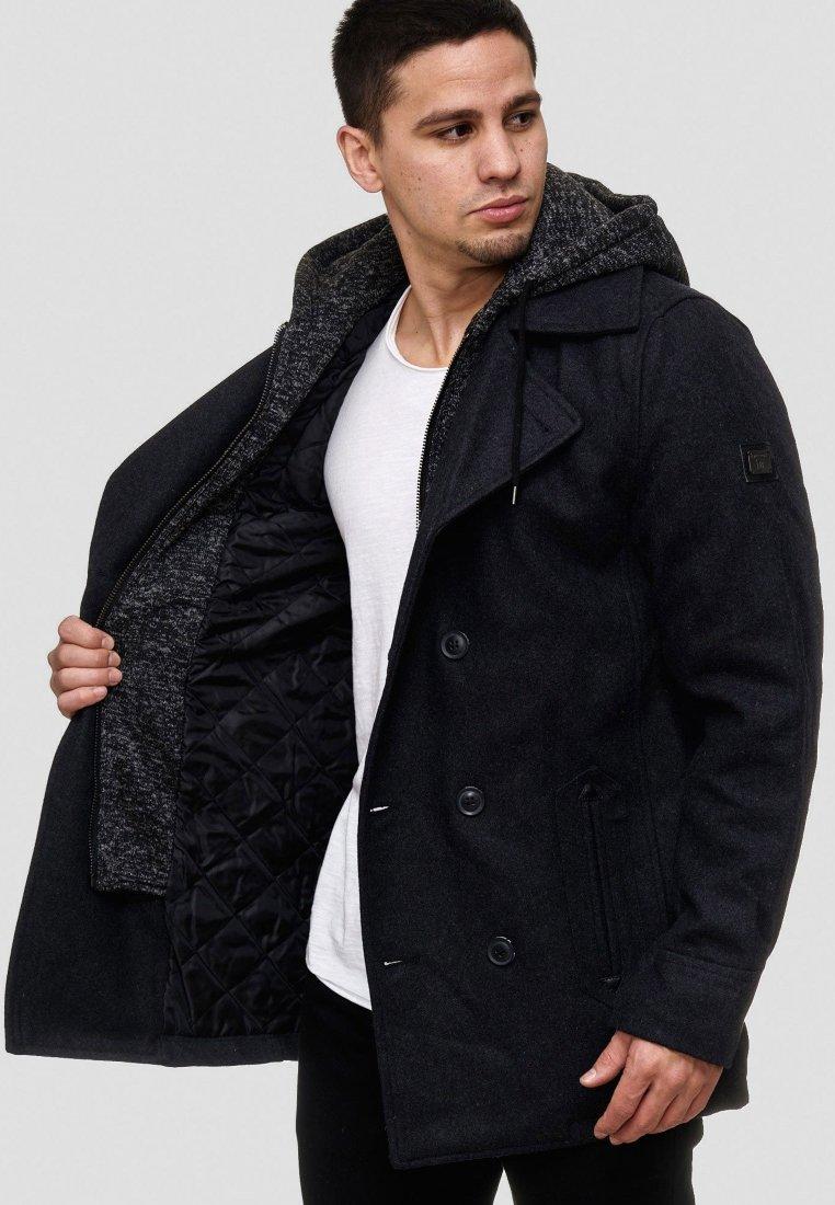 INDICODE JEANS - Halflange jas - black