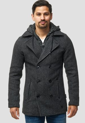 Short coat - black mix