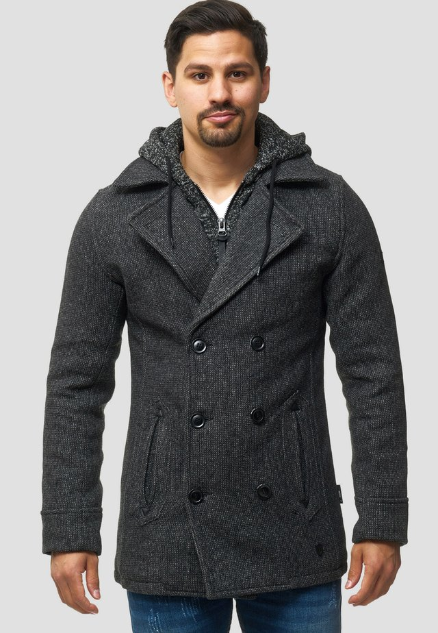 Short coat - black mix
