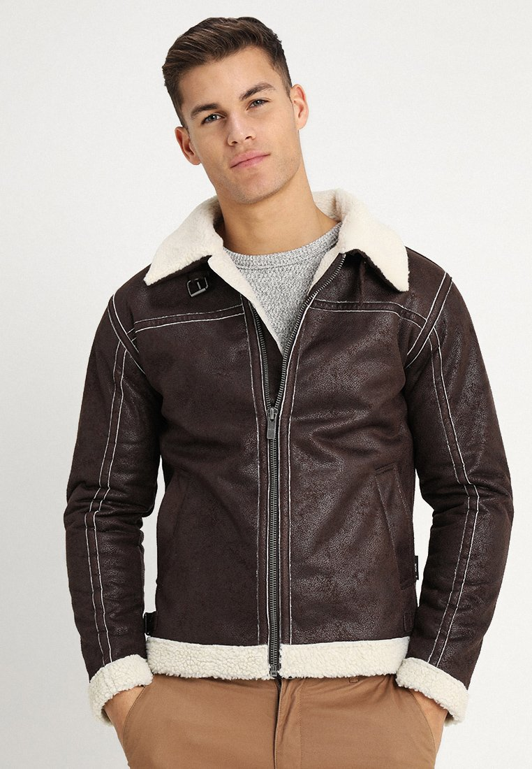 INDICODE JEANS - SHEPARD - Faux leather jacket - demitasse