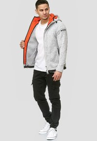 INDICODE JEANS - SUPER HOODIE  - Fleecejas - grey mix - 1