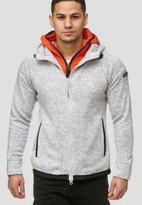 INDICODE JEANS - SUPER HOODIE  - Fleecejas - grey mix - 0