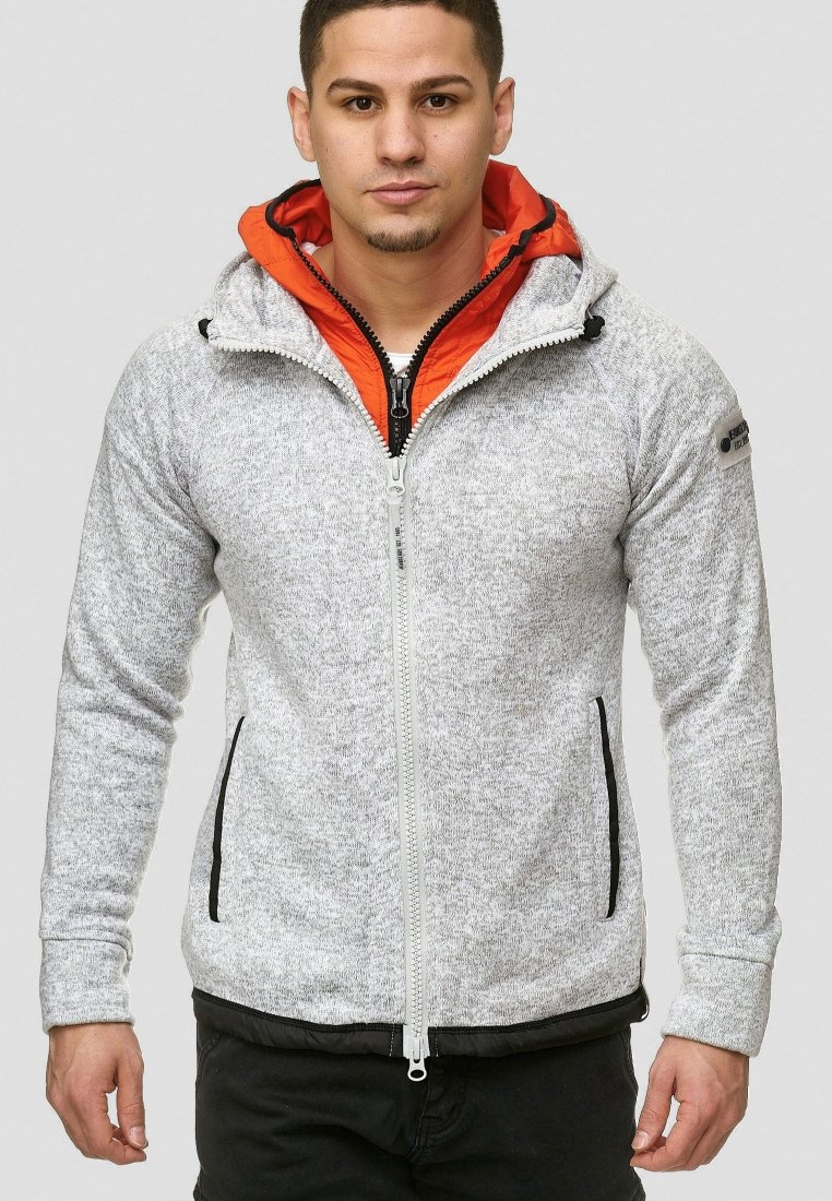 INDICODE JEANS - SUPER HOODIE  - Fleecejas - grey mix