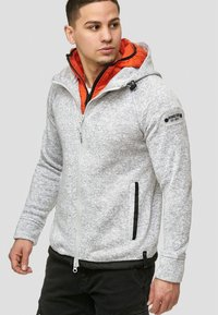 INDICODE JEANS - SUPER HOODIE  - Fleecejas - grey mix - 4