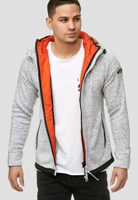 INDICODE JEANS - SUPER HOODIE  - Fleecejas - grey mix - 3