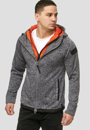SUPER HOODIE  - Fleecejas - charcoal mix