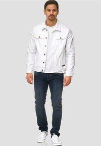 INDICODE JEANS - BRYNE - Denim jacket - off-white - 1