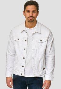 INDICODE JEANS - BRYNE - Denim jacket - off-white - 0