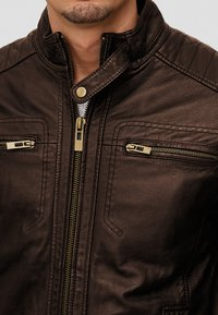 INDICODE JEANS - GERMO - Leather jacket - dark brown - 3