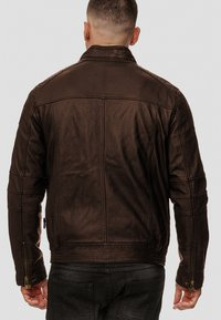 INDICODE JEANS - GERMO - Leather jacket - dark brown - 2