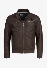 INDICODE JEANS - GERMO - Leather jacket - dark brown - 4
