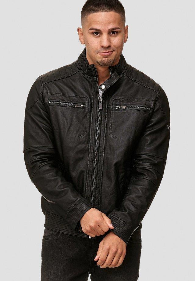 GERMO - Leren jas - black