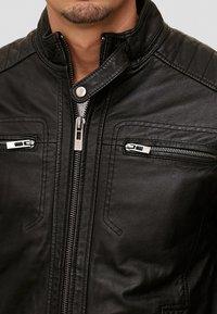 INDICODE JEANS - GERMO - Leren jas - black - 3