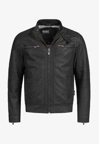 INDICODE JEANS - GERMO - Leren jas - black - 4