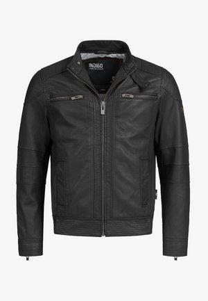GERMO - Leather jacket - black