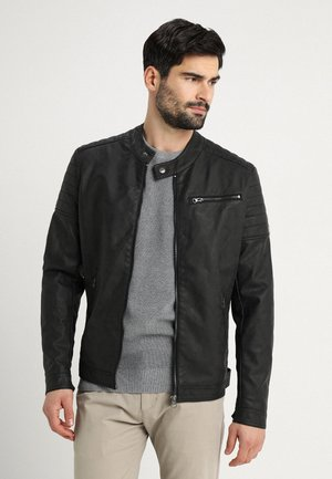 BELLYEARD - Veste en similicuir - black