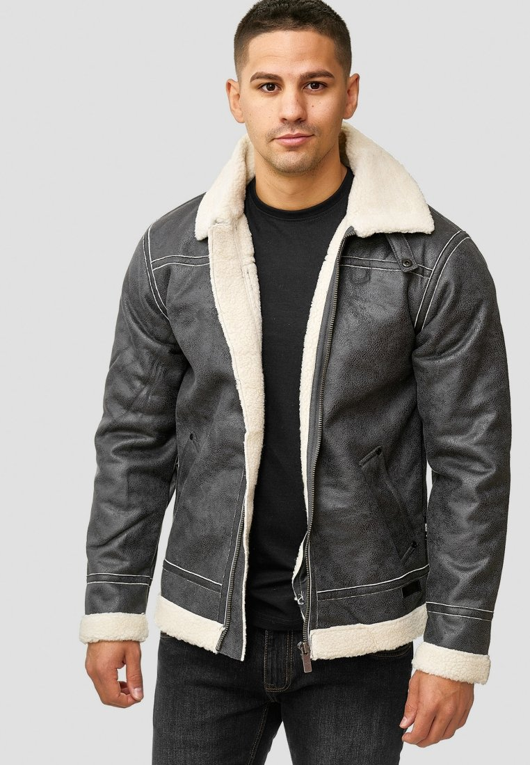 saisonDark Veste Indicode Jeans Grey Mi HI9E2D