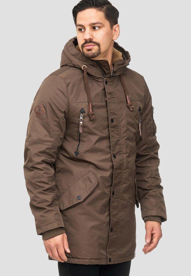 BARDSLEY - Płaszcz zimowy - mottled brown