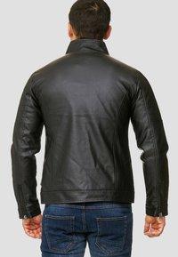 INDICODE JEANS - BROOK - Imitatieleren jas - black - 2