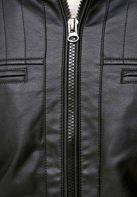 INDICODE JEANS - BROOK - Imitatieleren jas - black - 4