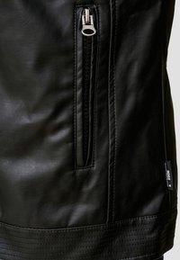 INDICODE JEANS - BROOK - Imitatieleren jas - black - 5