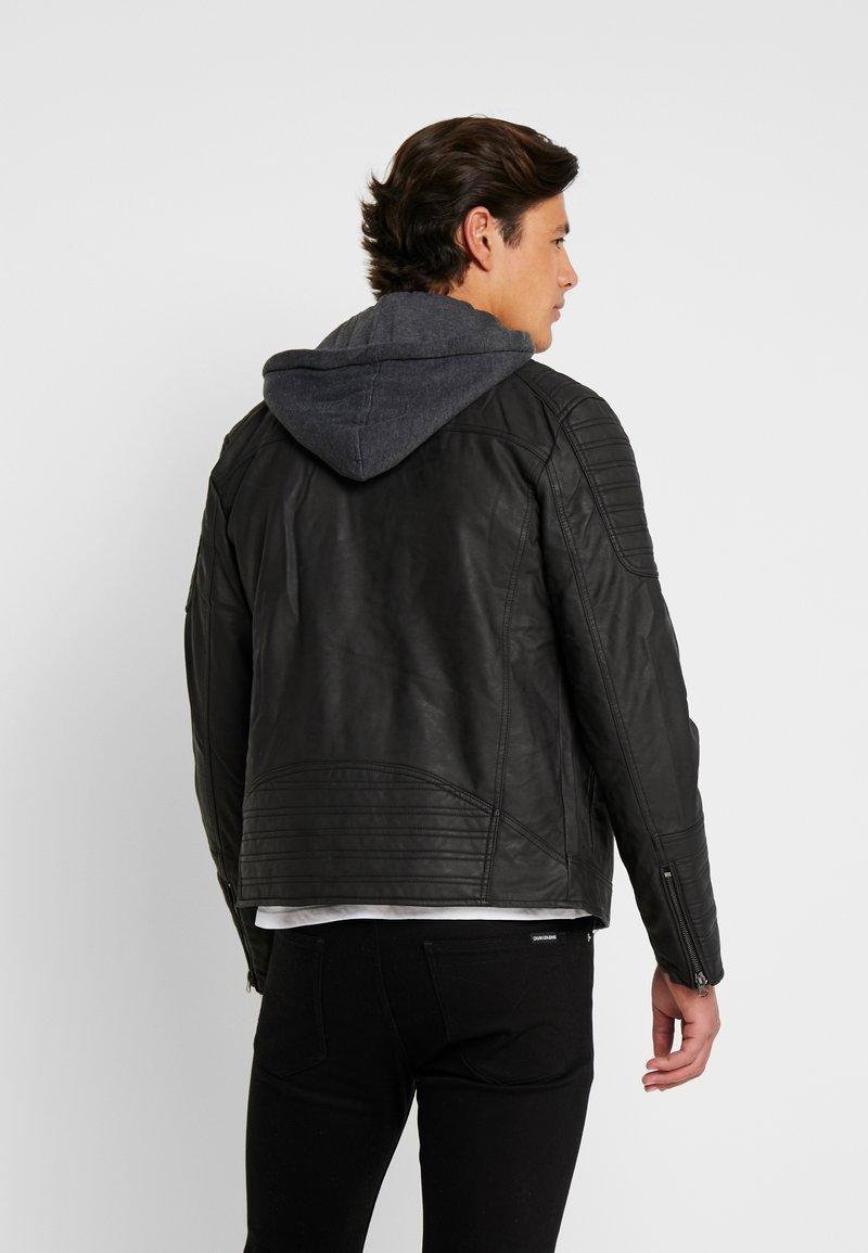 INDICODE JEANS - CHENIES - Faux leather jacket - black