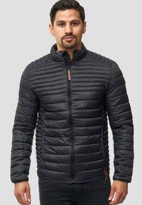 INDICODE JEANS - REGULAR FIT - Light jacket - black - 0