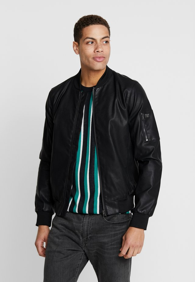ANDRIA - Faux leather jacket - black