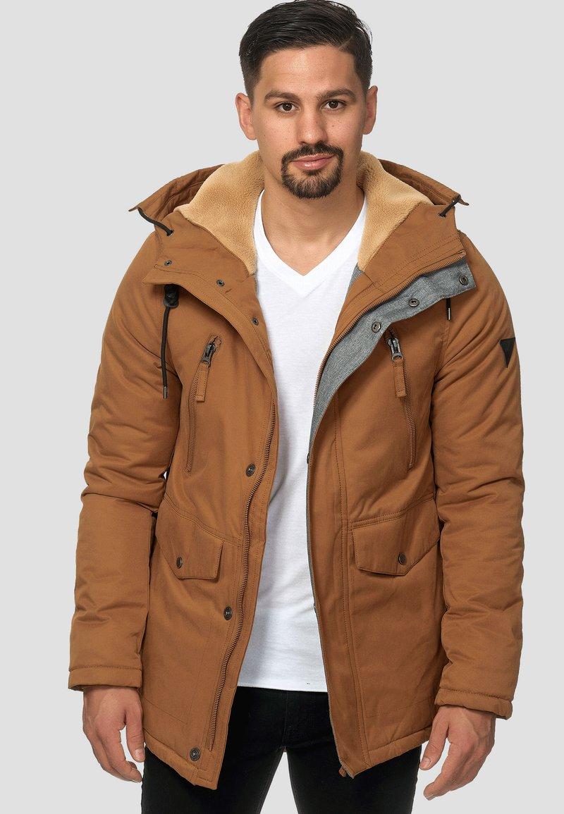 INDICODE JEANS - Parka - mottled brown