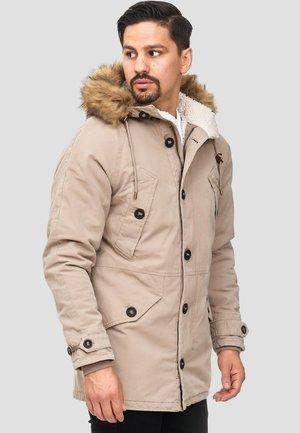 Winter coat - mottled dark grey