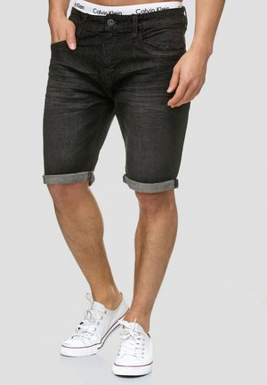 CUBA - Denim shorts - black