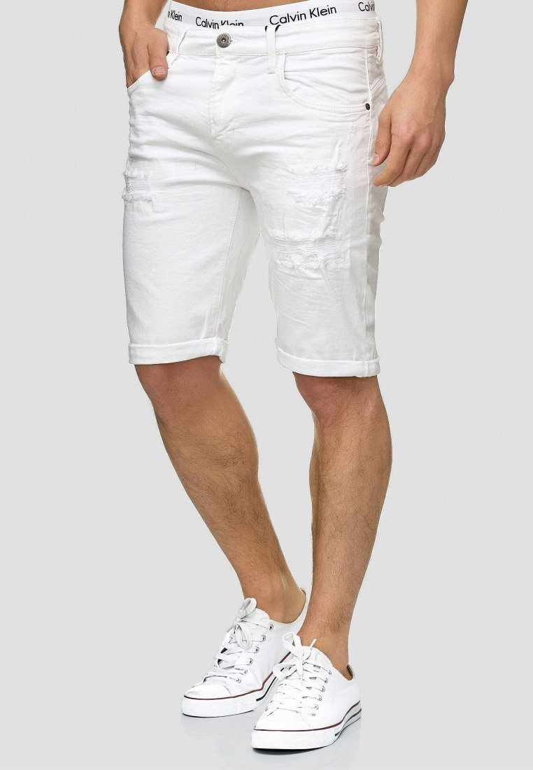 INDICODE JEANS - CUBA CADEN - Denim shorts - off-white