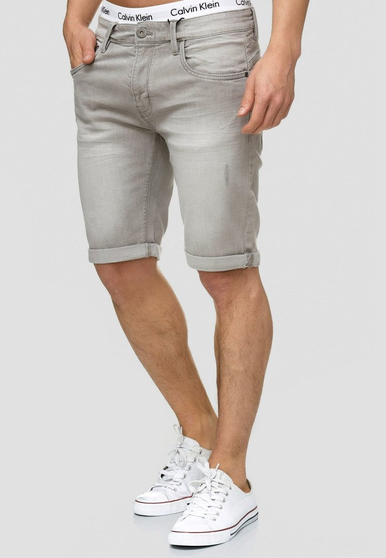 INDICODE JEANS - CUBA CADEN - Denim shorts - grau