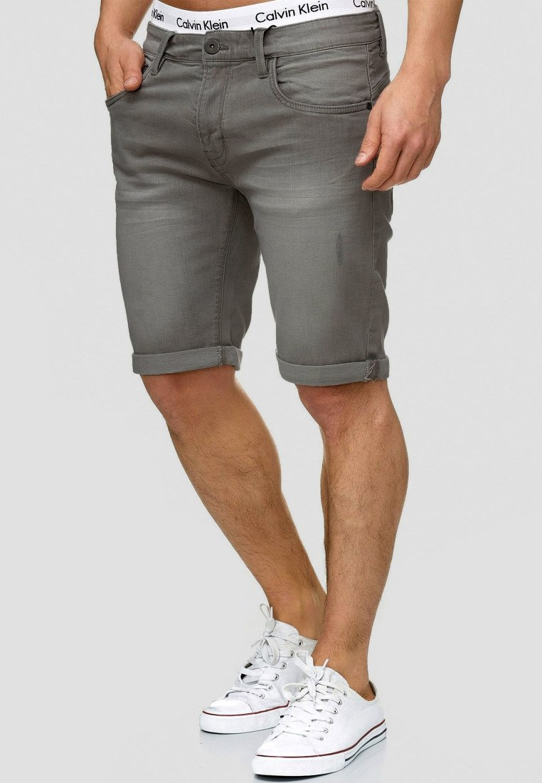 INDICODE JEANS - CUBA CADEN - Denim shorts - dark grey